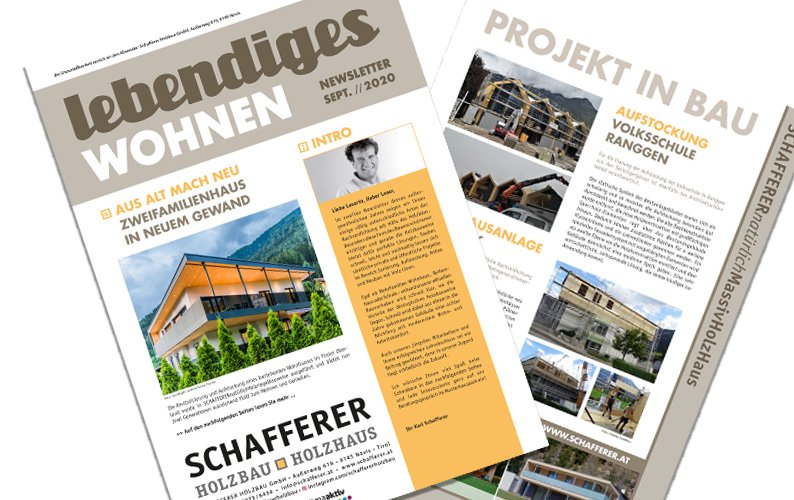SCHAFFERER NEWSLETTER SEPTEMBER 2020